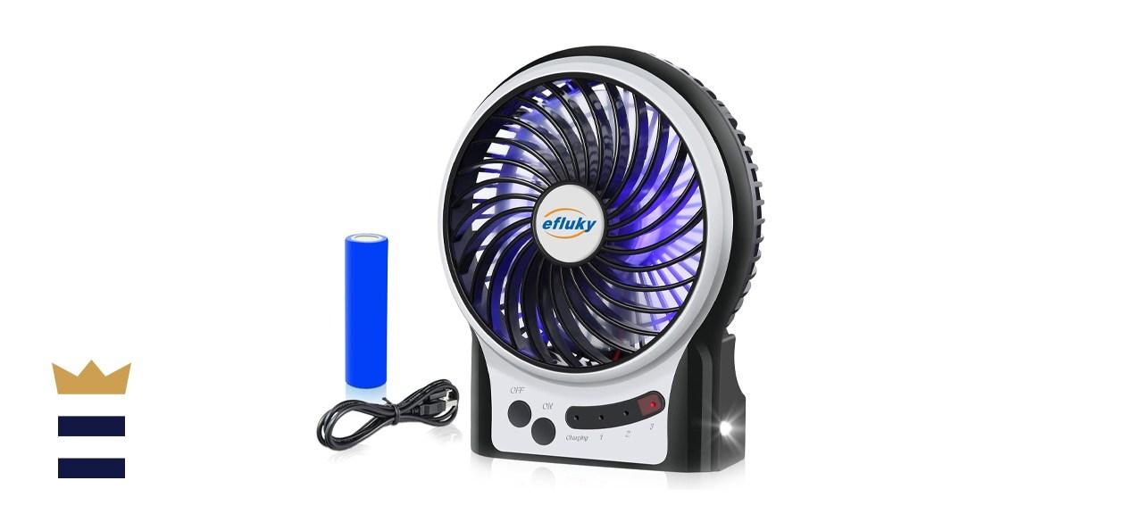 efluky 3 Speeds Mini Desk Fan