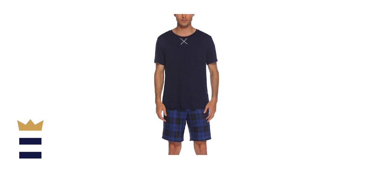 Ekouaer Mens Pajama Shorts Set