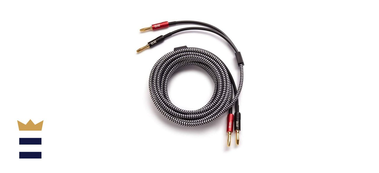 ELAC Sensible 14 AWG Speaker Cables Pair with Gold-Plated Banana Plugs