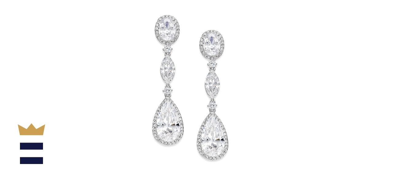 Eliot Danori Oval Crystal Drop Earrings