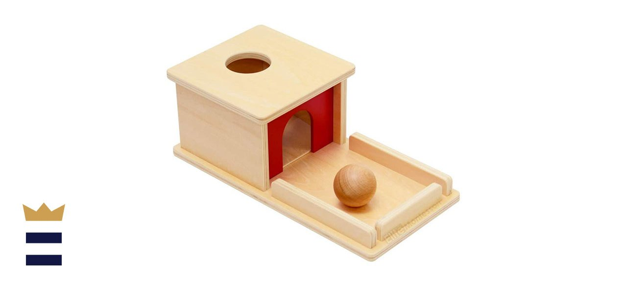 Elite Montessori's Object Permanence Box with Tray and Ball