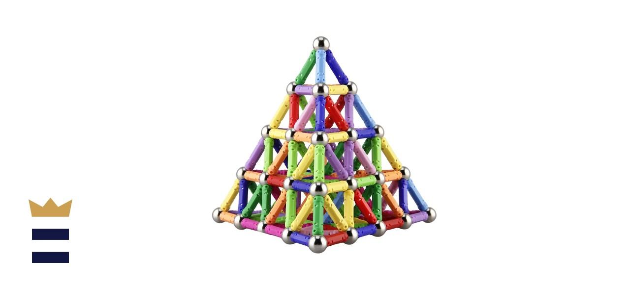 Elongdi 130 Pieces - Magnetic Building Sticks Building Blocks Set