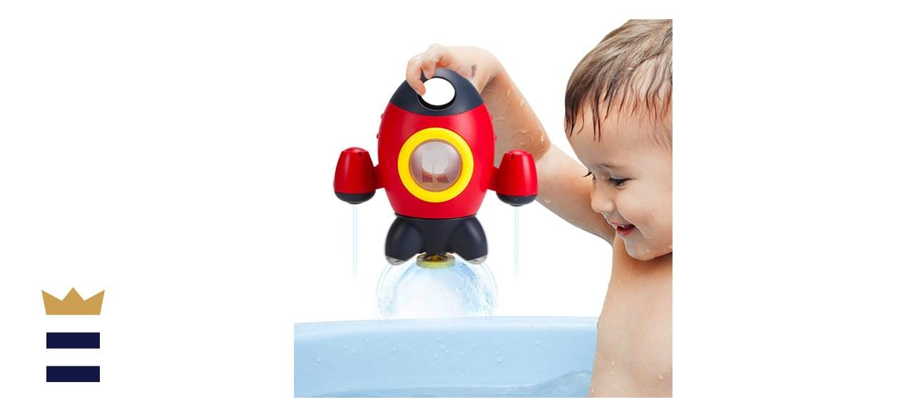 Elovien Space Rocket Bathtub Toy