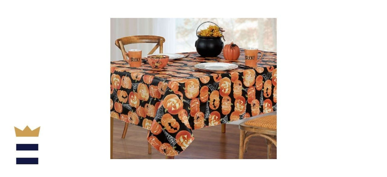 ELRENE Glowing Jack-O'-Lanterns Tablecloth Collection