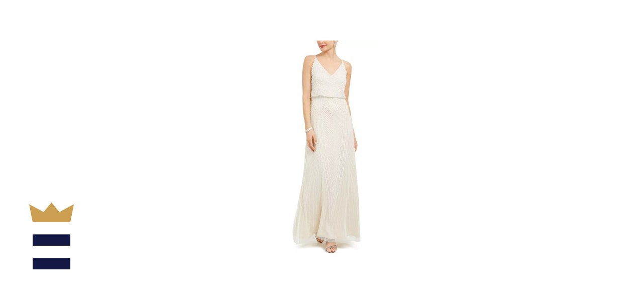 Embellished Blouson Gown by Adrianna Papell