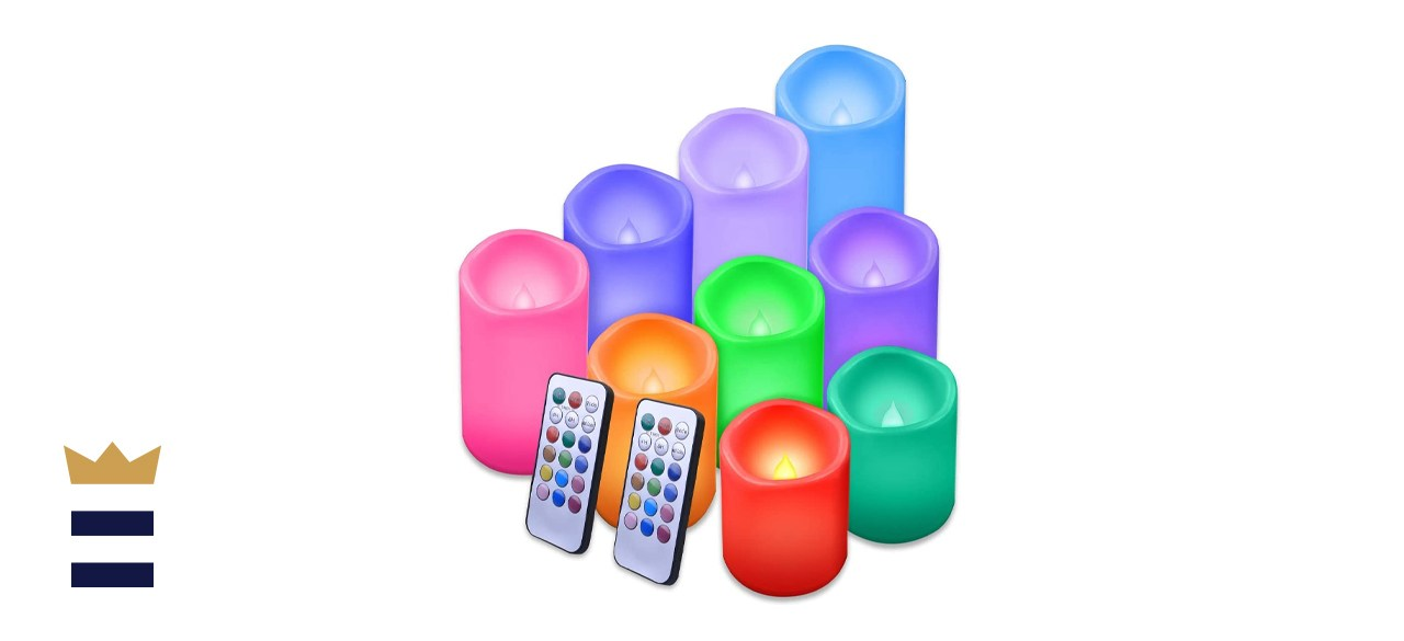 Enido Flameless Outdoor Color Changing Candles
