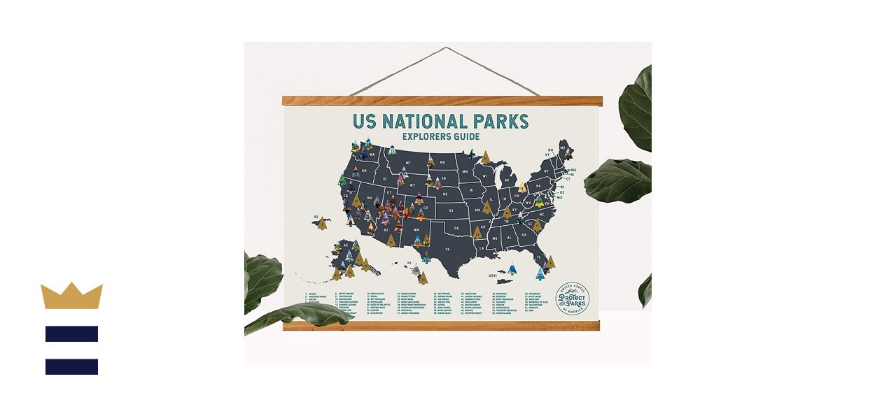 Epic Adventure Maps National Park Scratch Off Map