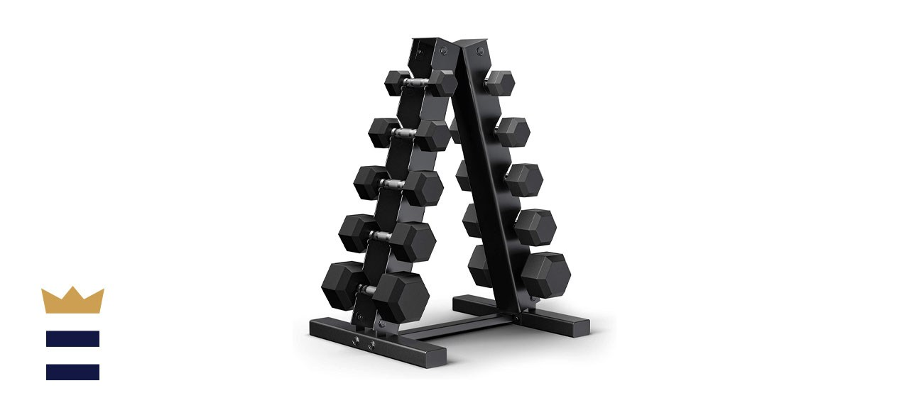 Epic Fitness 150-Pound Hex Dumbbell Set