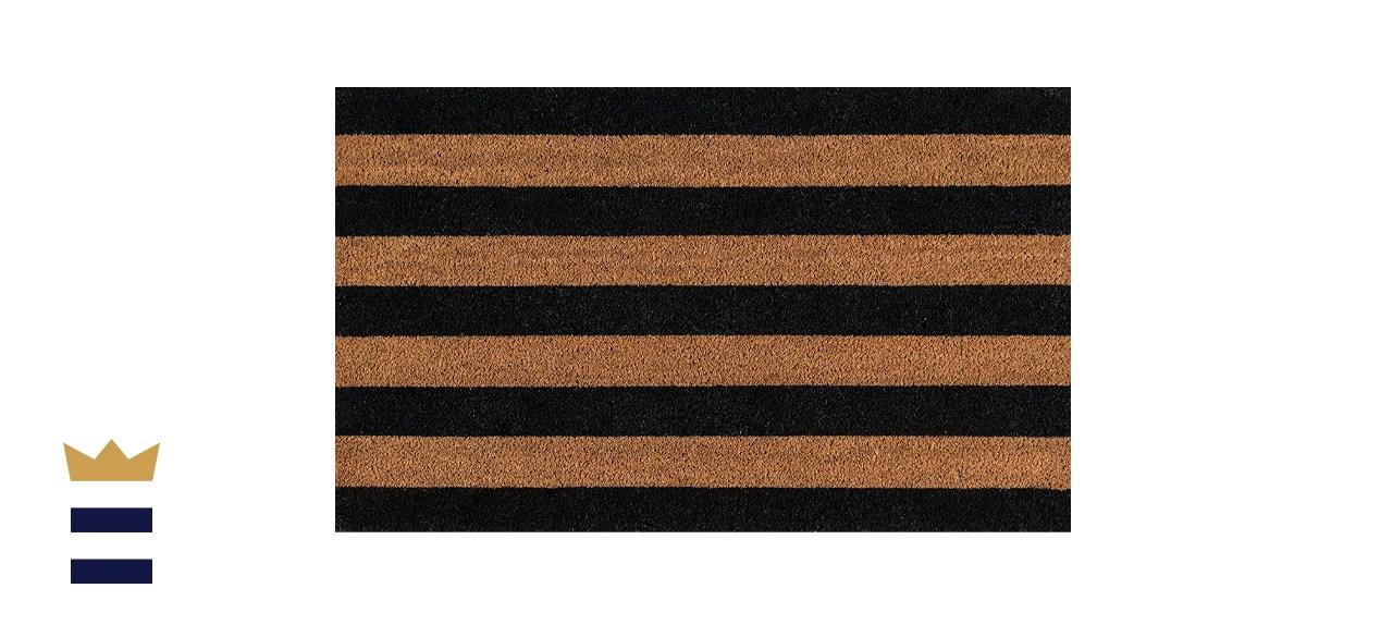 Erin Gates Stripe Black Stripe Doormat