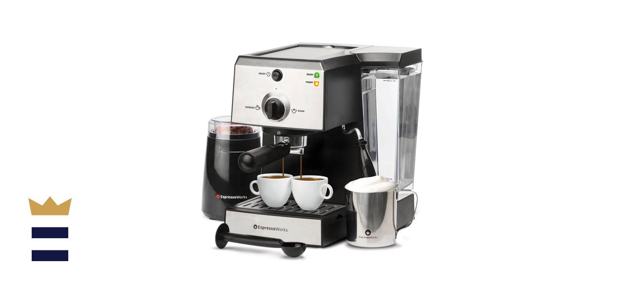 EspressoWorks 7 Pc All-In-One Espresso Machine & Cappuccino Maker