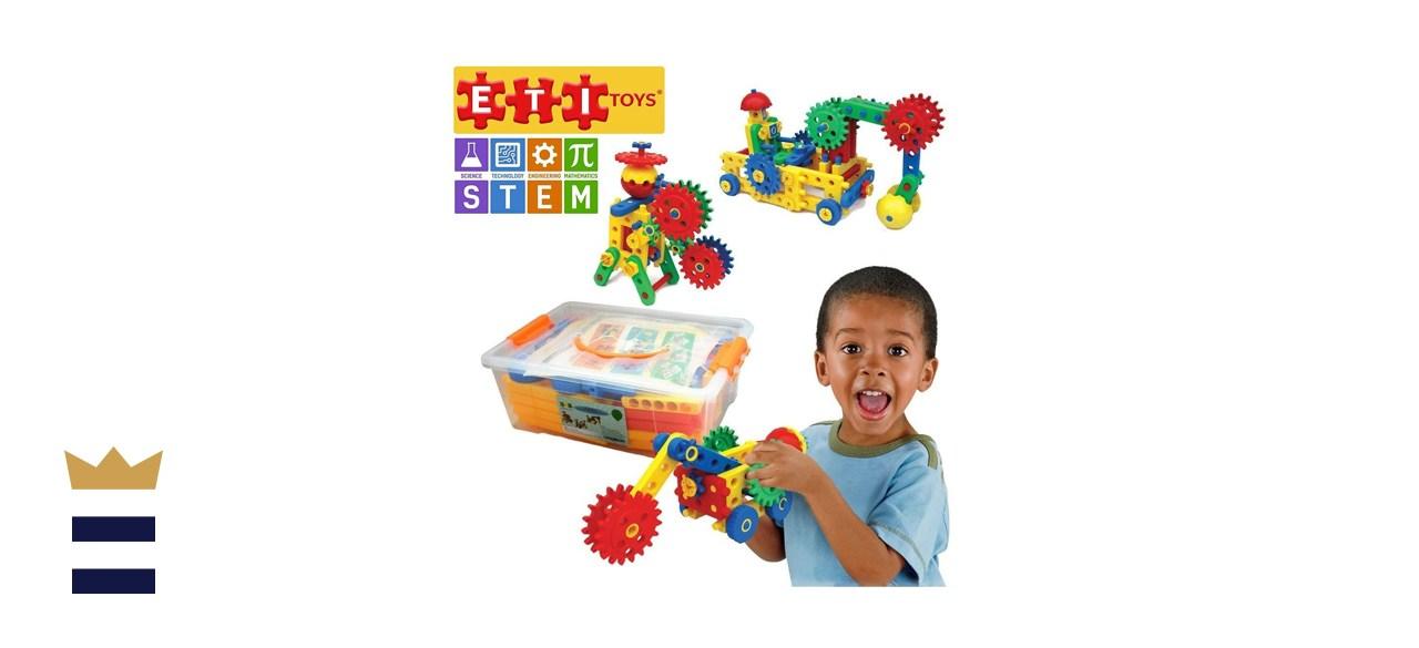 ETI Toys STEM Learning 109-Piece Engineering Blocks & Gears Building Set