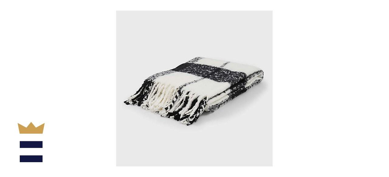 EverGrace Cortez Plaid Faux Mohair Throw Blanket