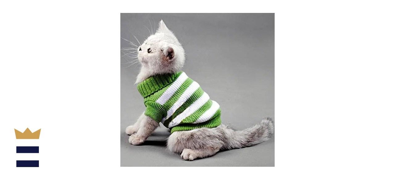 Evursua Striped Cat Sweater