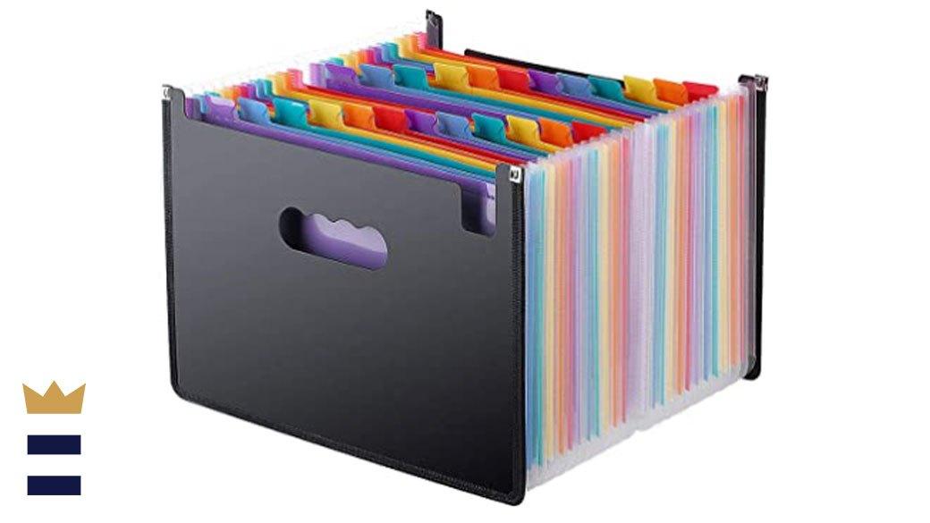 Expanding File Folder Organizer Stand