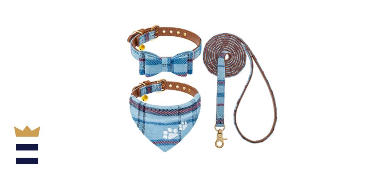 EXPAWLORER Dog Leash and Collar Set