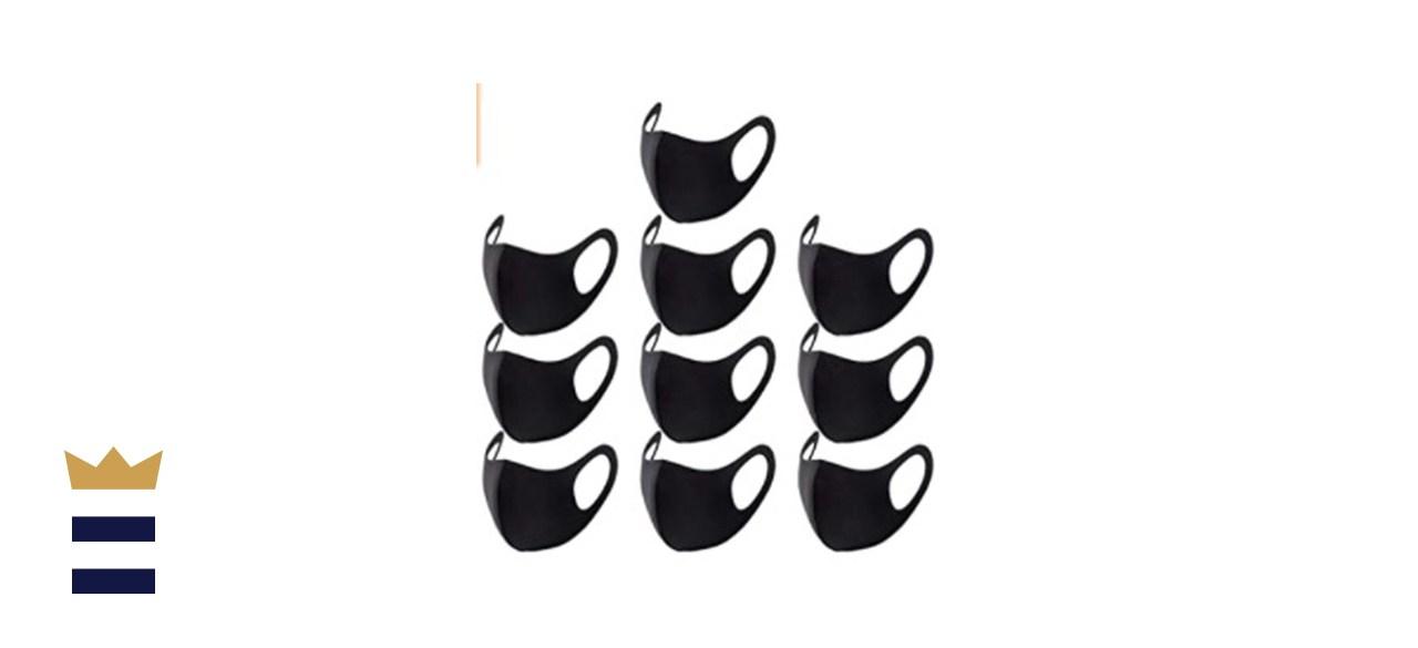 EYELOV Black Face Mask Covers with Elastic Ear Loop