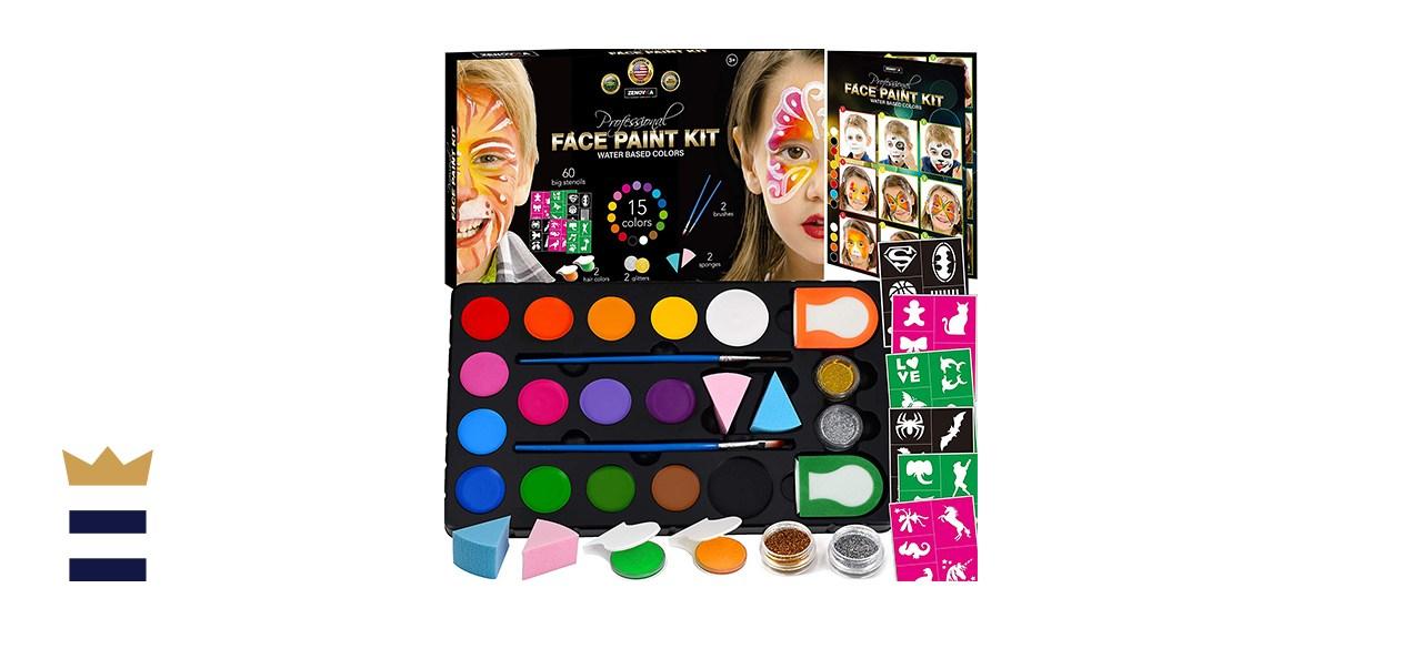 Face Paint Kit for Kids by Zenovika