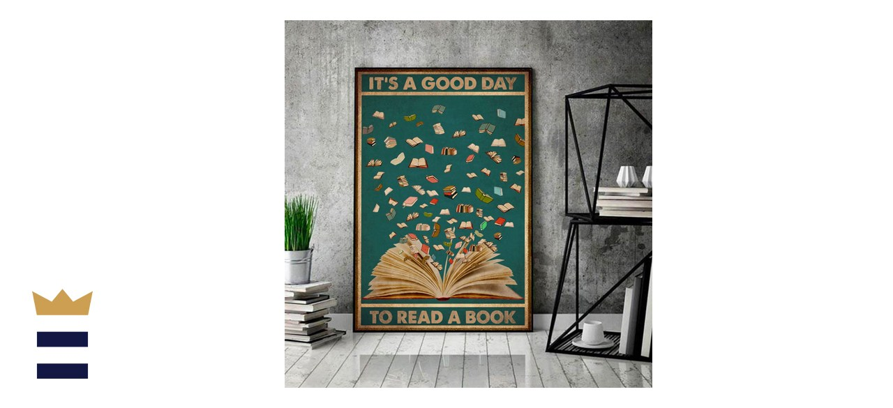 Minty Gift Reading Books Poster