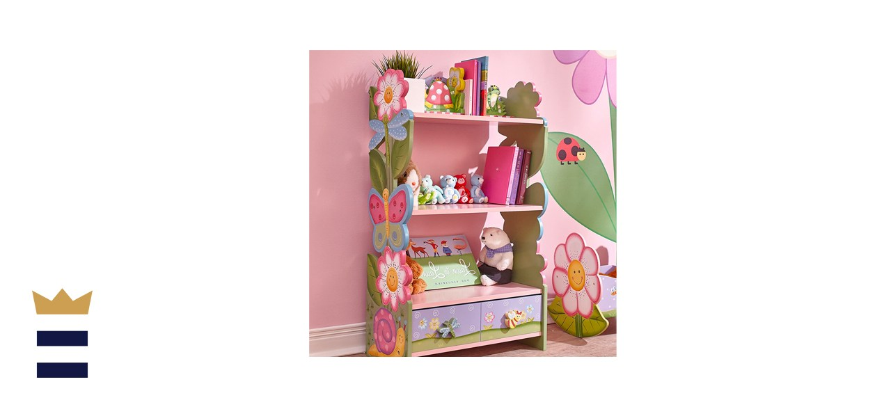 Fantasy Fields Magic Garden Kids Wooden Bookshelf with Storage Drawers