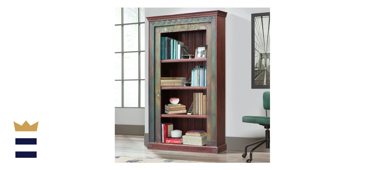FarPavillionsTX Farmhouse Style Antique Teak Wood Repurposed Bookcase