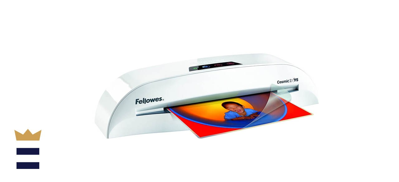 Fellowes Cosmic 2 95 Personal Laminator with Pouch Starter Kit