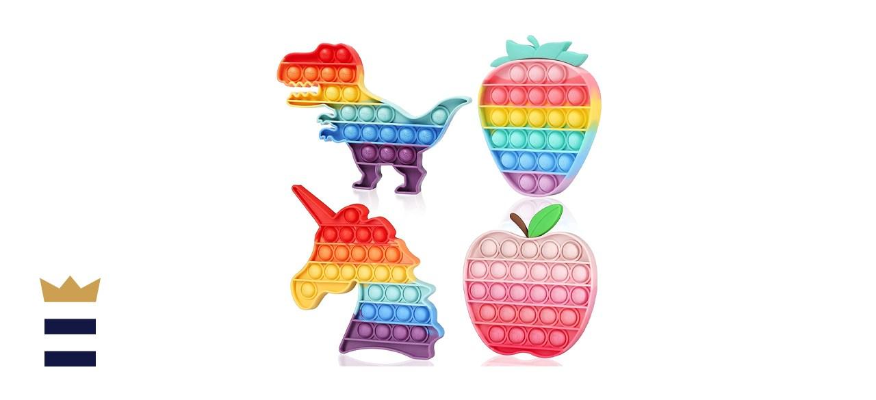 Fescuty Rainbow Pop Bubble Sensory Fidget Toys