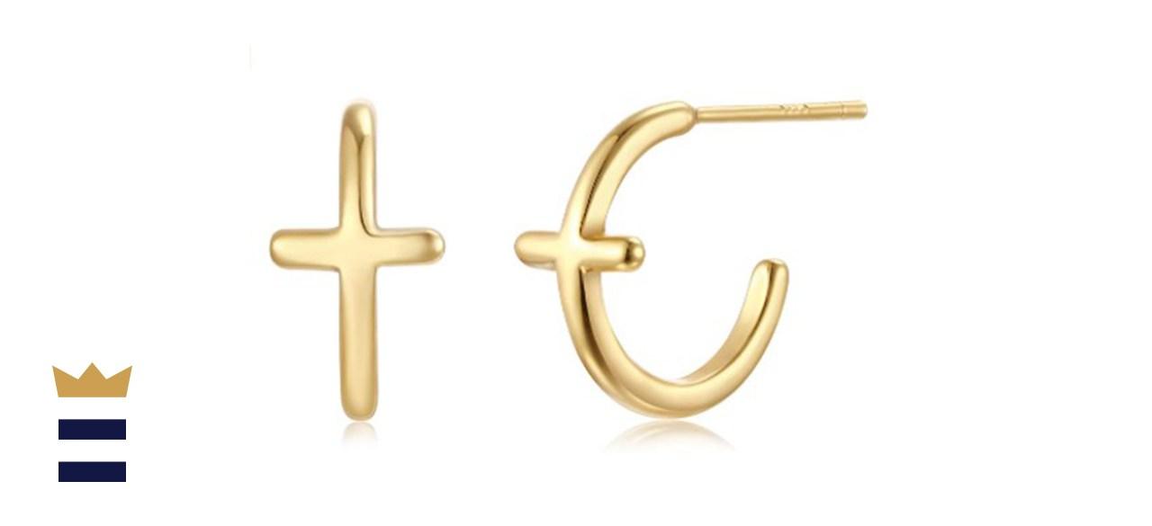 Fettero Mini Cross Stud Earrings