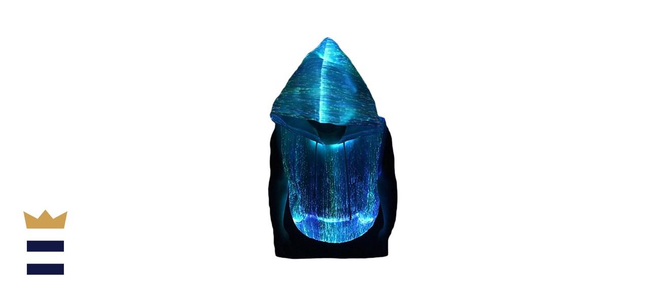 Fiber Optic Fabric LED Hoodie