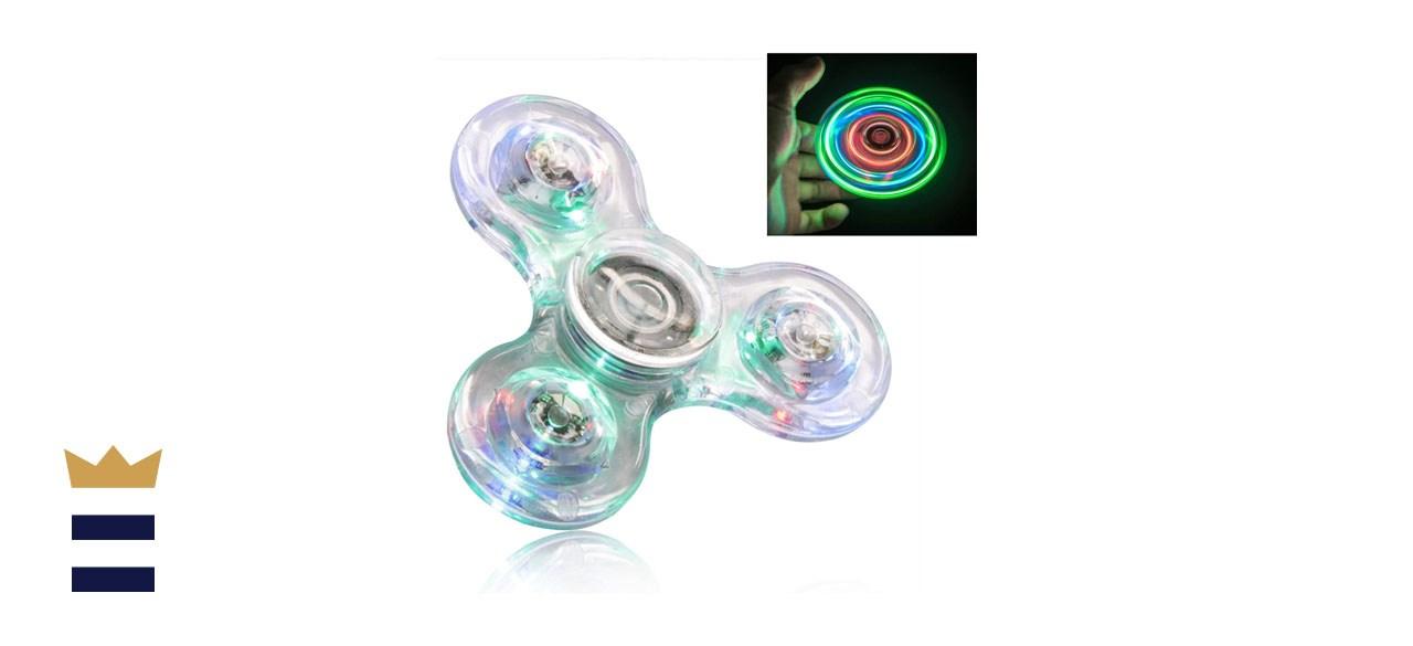FIGROL Crystal LED Rainbow Light Fidget Spinner