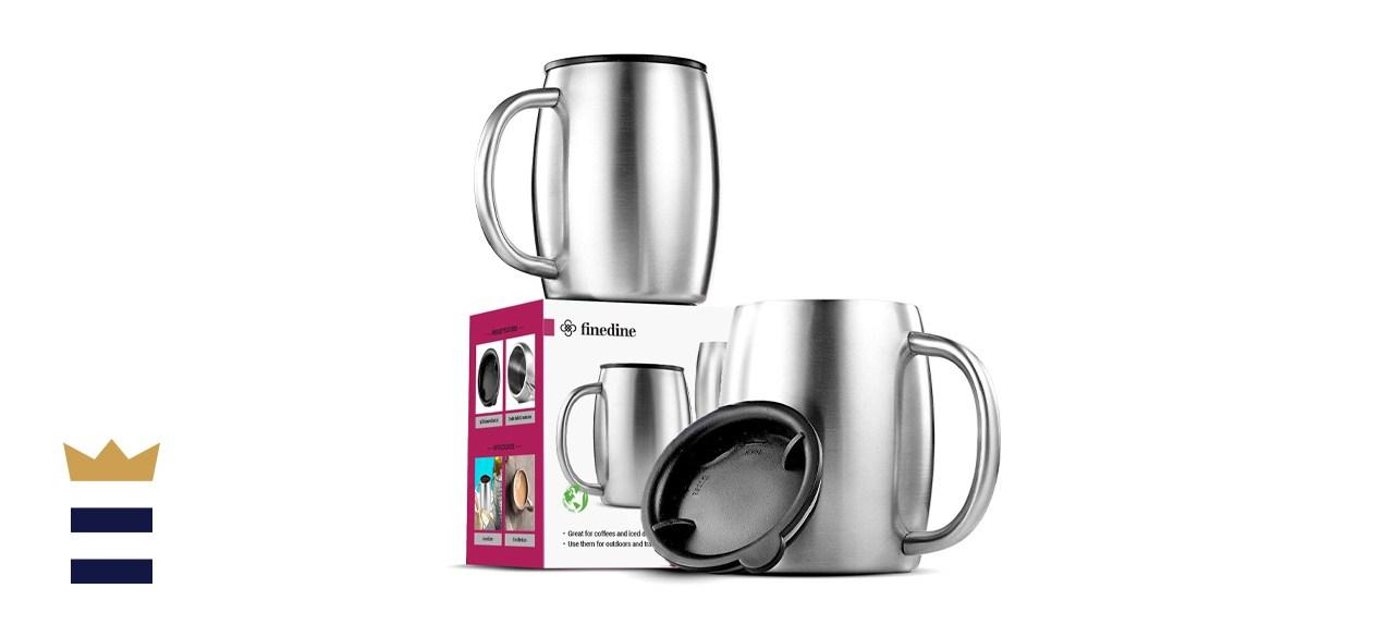 Finedine Double Wall Stainless Steel Coffee Mug
