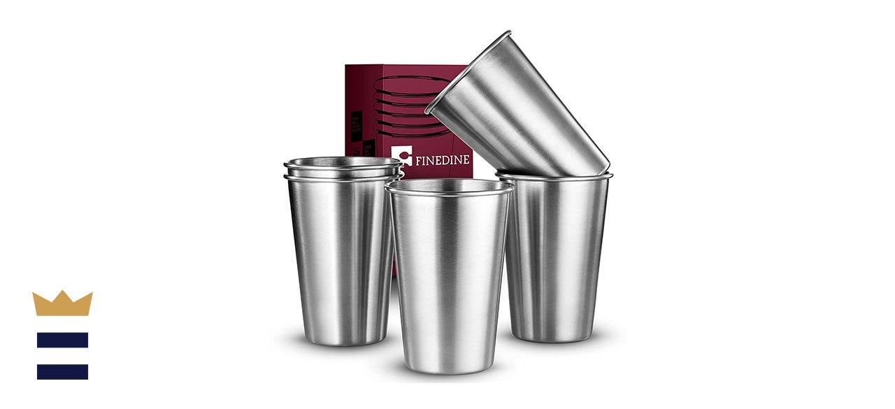 FineDine's Premium-Grade Stainless Steel Pint Cups
