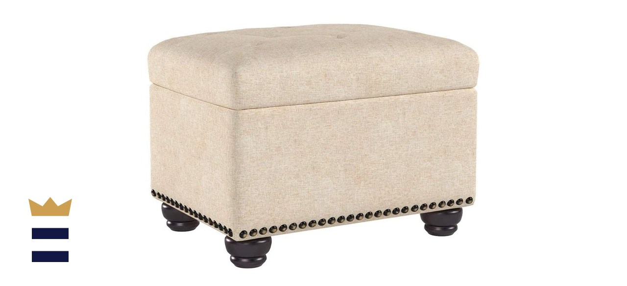 First Hill Fifth Avenue Upholstered Storage Ottoman