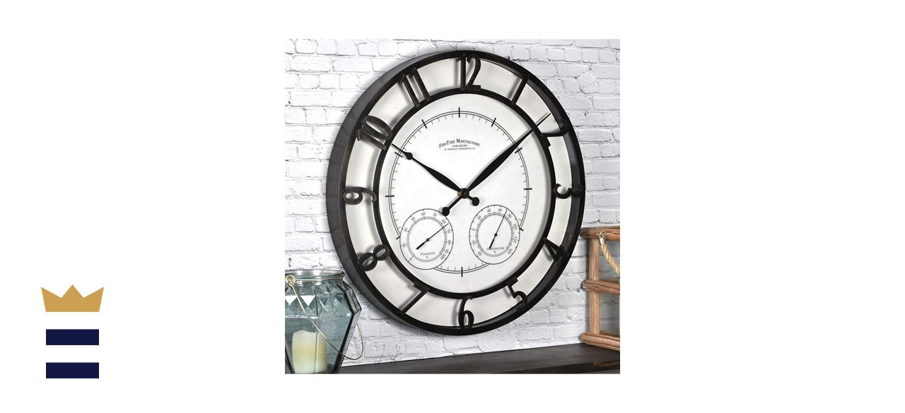 FirsTime & Co. Park Outdoor Wall Clock