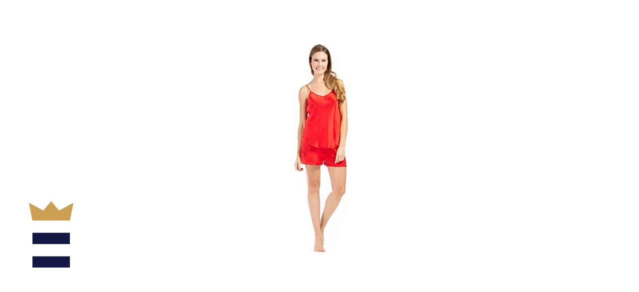 Fishers Finery Mulberry Silk Cami Boxer Set
