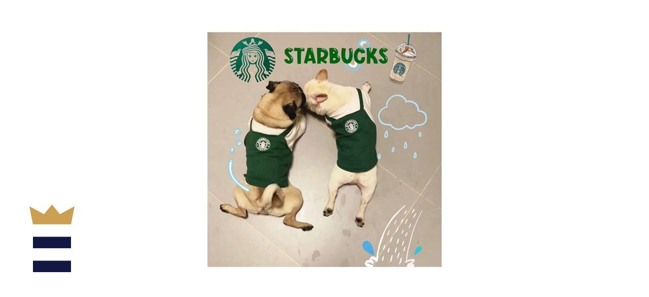 FitFrenchie Starbucks Barista-Inspired Pet Uniform