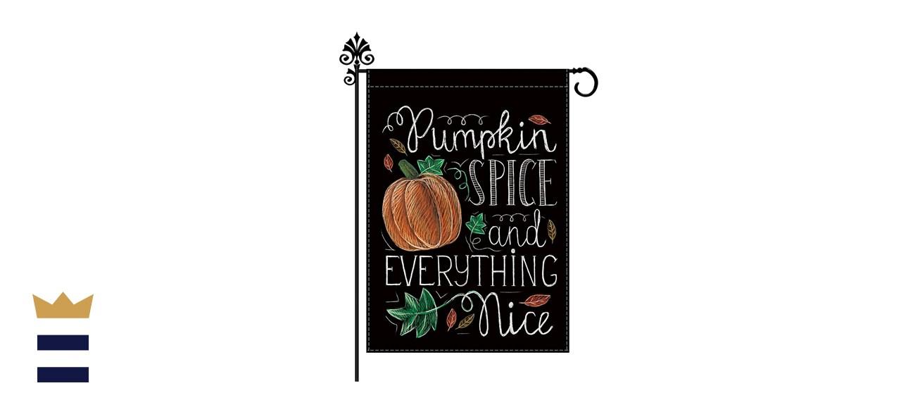 Fall Garden Pumpkin Flag