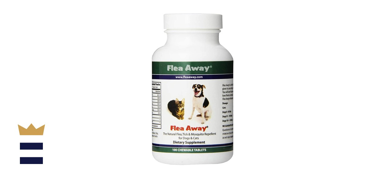 Flea Away Flea & Tick Oral Treatment for Dogs & Cats, 100 Chewable Tablets