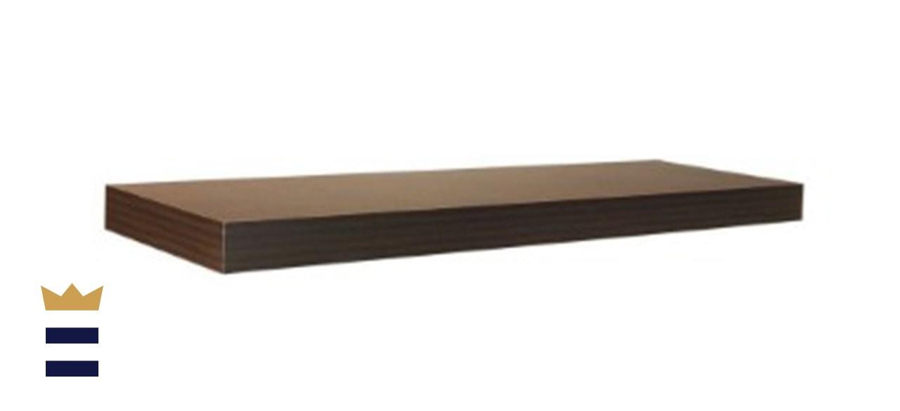 35.4 in. L x 10 in. W Floating Espresso Shelf