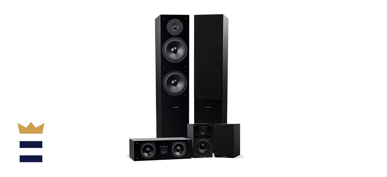 Fluance SXHTB-BK High Definition Surround Sound Home Theater Speaker System