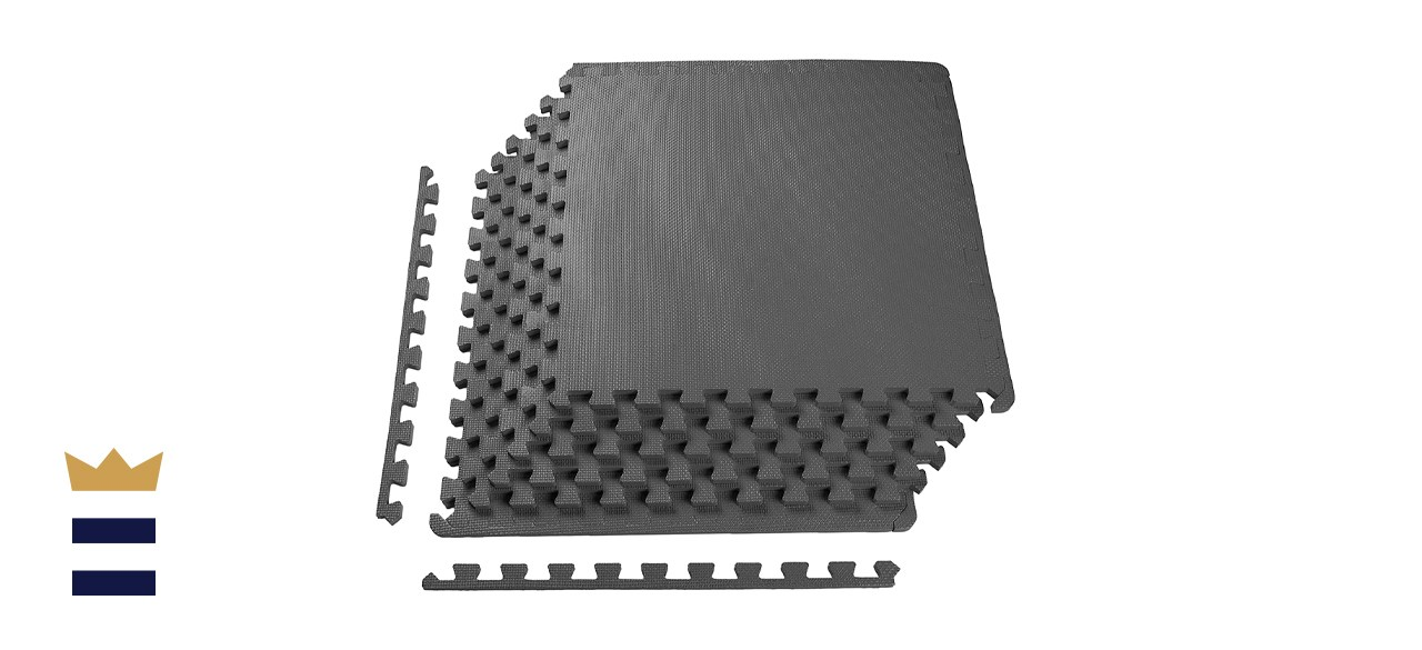 BalanceFrom Puzzle Exercise Mat with EVA Foam Interlocking Tiles for MMA