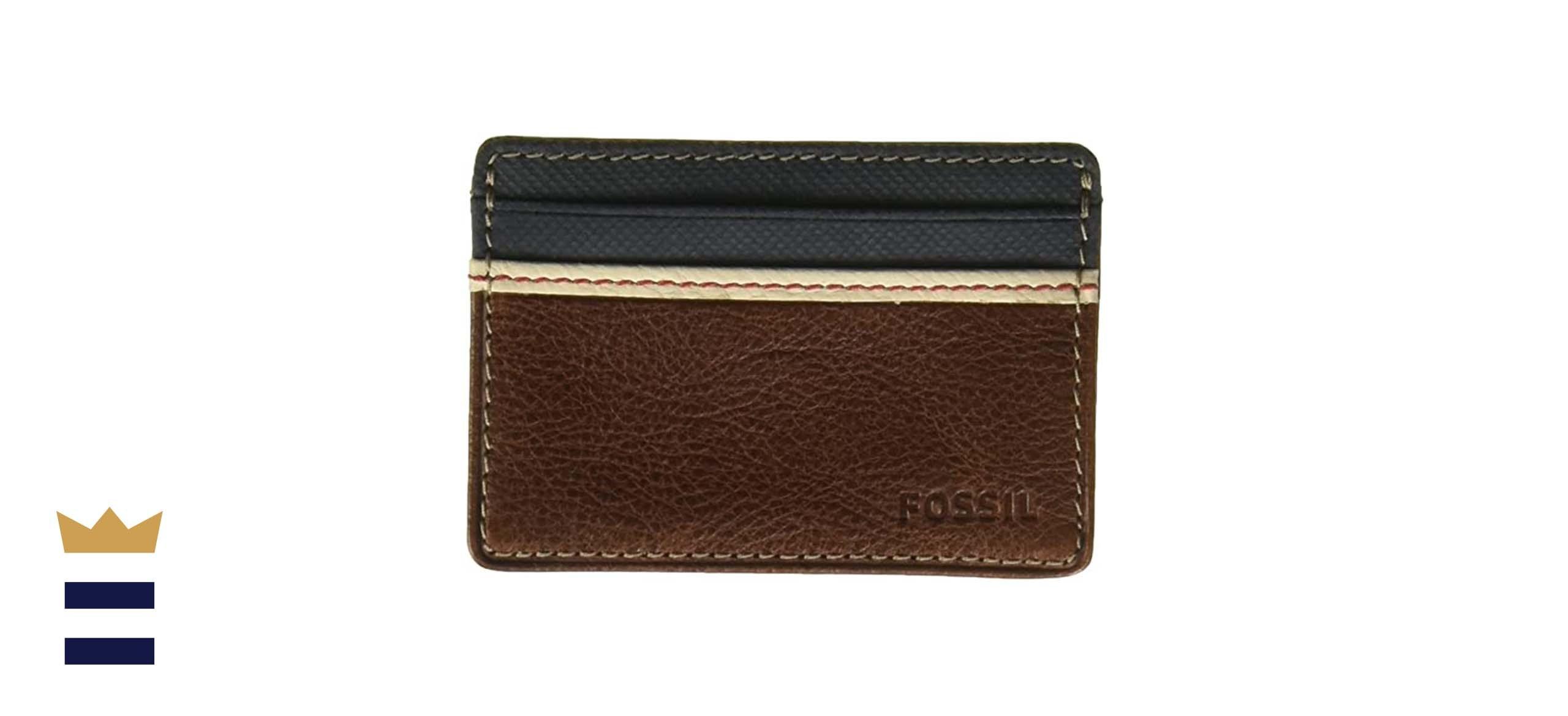 Fossil Men's Leather Minimalist Card Case Front Pocket Wallet