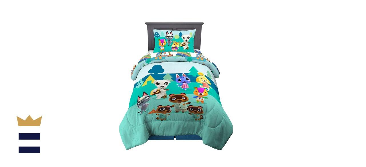 Franco Kids Bedding Super Soft Animal Crossing Comforter and Sheet Set