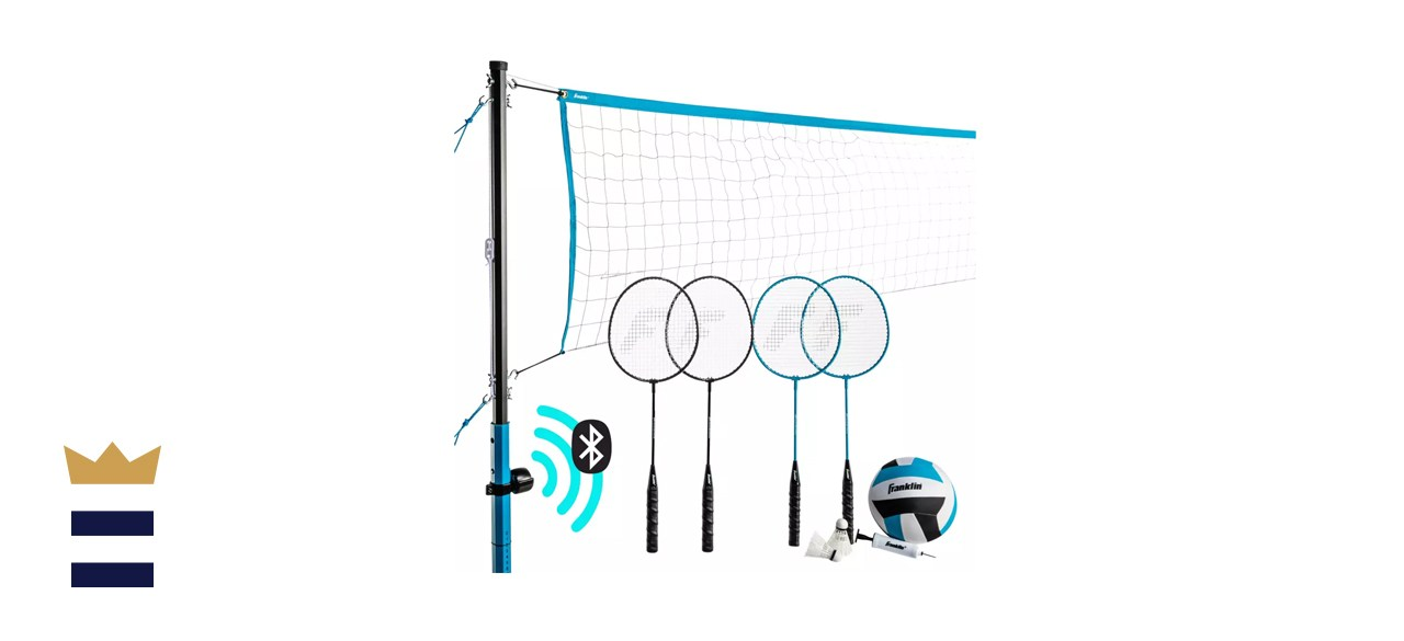 Franklin Sports Bluetooth Volleyball/Badminton Combo Set