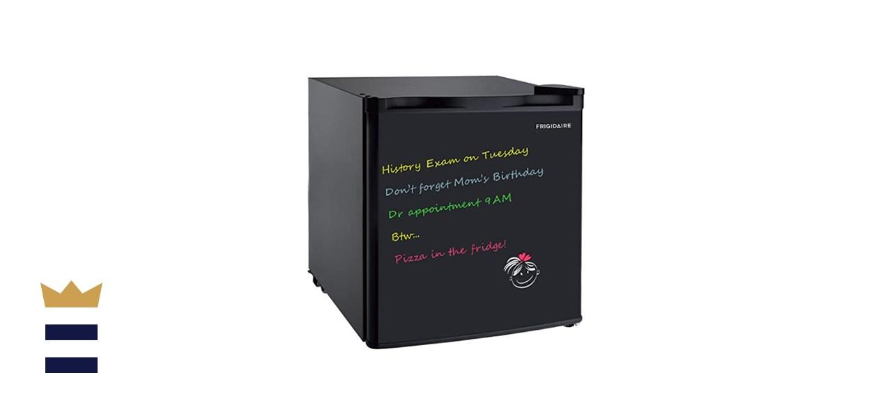 FRIGIDAIRE BLACK 1.6 Cu Ft Compact Dorm Fridge with Dry Erase Board, Black