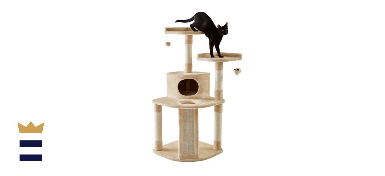 Frisco 48-Inch Faux Fur Cat Tree & Condo