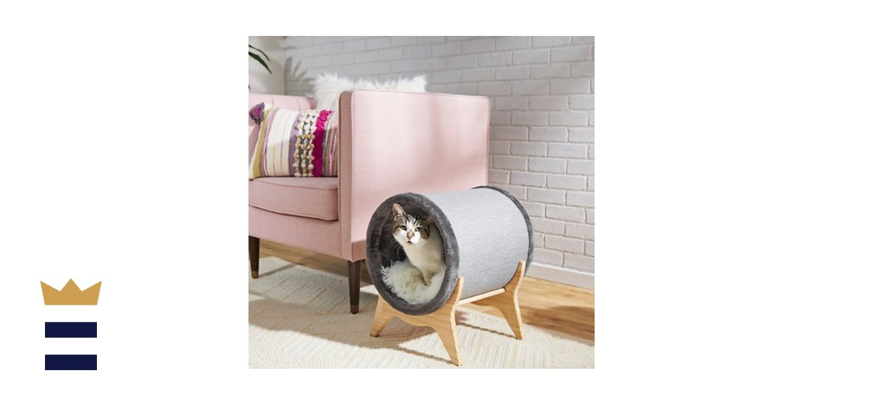 Frisco Modern Tunnel Elevated Cat Bed
