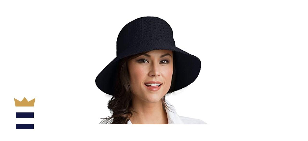 Coolibar UPF 50+ Women's Ariel Reversible Pool Hat