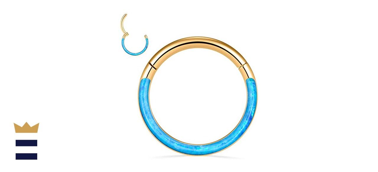 FUNLMO Opal Cartilage Conch Earring Hoop