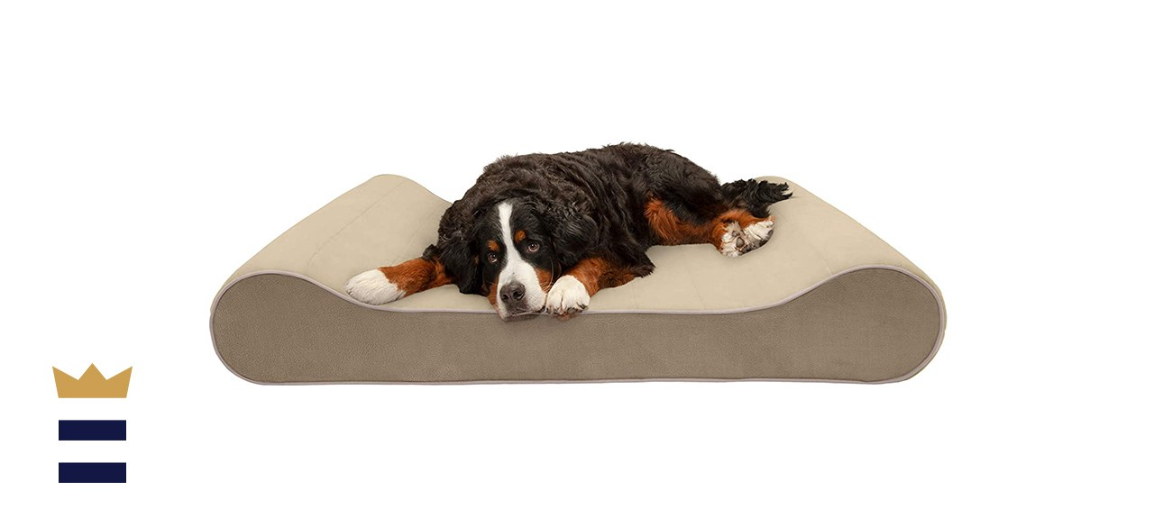 Furhaven Orthopedic Contour Luxe Cooling Gel Dog Bed