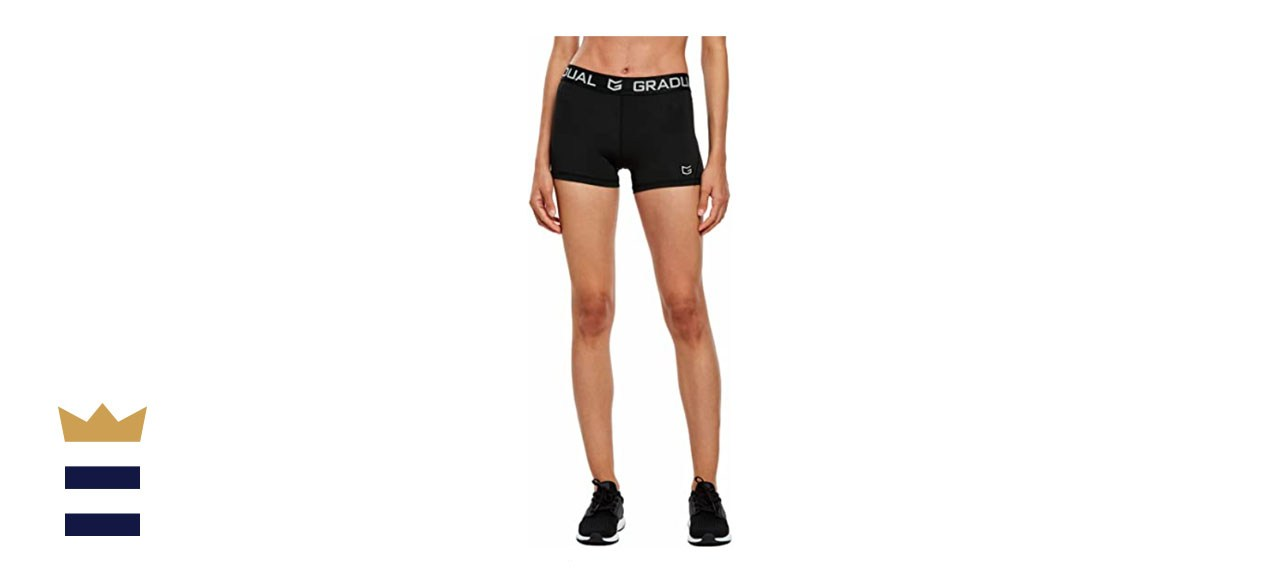 G Gradual Women's Spandex Compression Volleyball Shorts